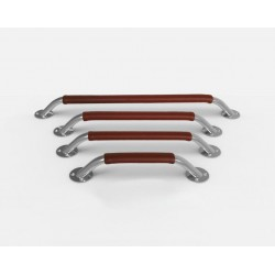 STAINLESS STEEL HANDRAIL SPACING 380MM + LEATHER COVER