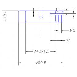 BLOCK NUT M48X1.5MM